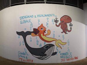 Il murale della II^ B Turismo è completato