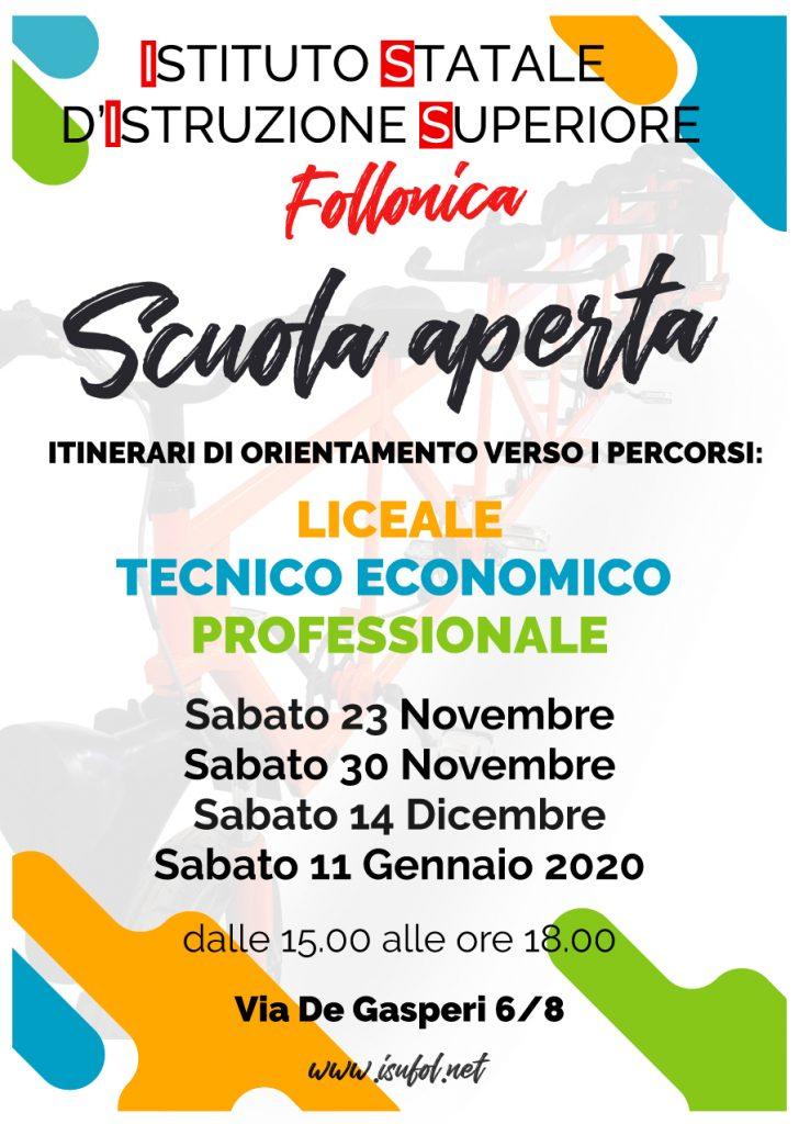 Locandina Scuola Aperta A.S. 2019/2020