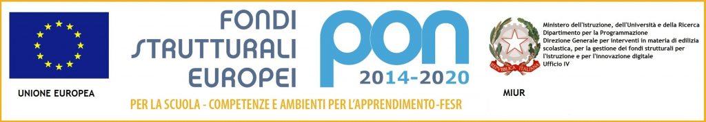 Banner Fondi Strutturali Europei PON FESR 2014-2020