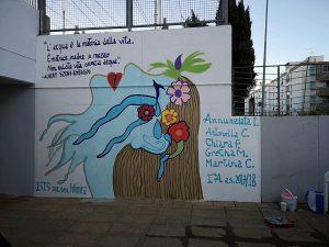 Il murale della II^A Socio-Sanitario è completato